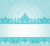 Turquoise vintage invitation design Royalty Free Stock Image