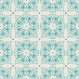 Turquoise vintage pattern Stock Photography