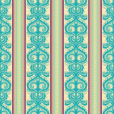 Turquoise vintage pattern Royalty Free Stock Image