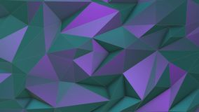 Turquoise-violet beauty low poly triangle background. Turquoise-violet abstract low poly triangle background 4k stock video
