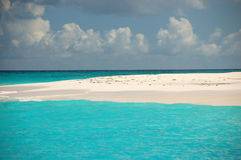 Turquoise water. Against blue sky Royalty Free Stock Photos