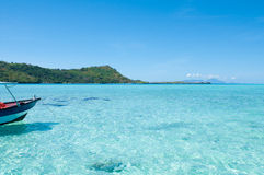 Turquoise water!. Transparent turquoise water in Tahiti Stock Images