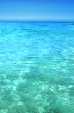 Turquoise water. Blue and turquoise calm water Stock Photos