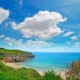 Turquoise water in Alghero shoreline Royalty Free Stock Photos