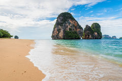 Turquoise water of the Andaman Sea rolling waves Royalty Free Stock Photos