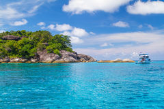 Turquoise water of Andaman Sea in Thailand Stock Photos