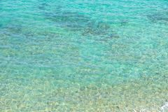 Turquoise water background. Tropical Green blue turquoise water background, Skiathos island, Greece, 2018 stock photography