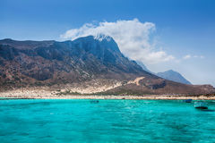 Turquoise water of Balos bay Royalty Free Stock Image