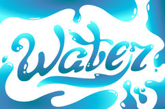 Turquoise Water Day logo lettering Royalty Free Stock Image