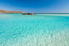 Turquoise water of Elafonisi Beach. Stock Photography