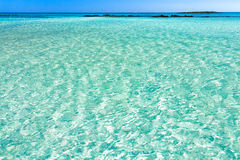 Turquoise Water of Elafonisi Beach Royalty Free Stock Photography