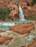 Havasu Falls. Turquoise water fills the pool beneath Havasu Falls in Havasu Canyon stock photography