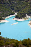 Turquoise water between forested islands Royalty Free Stock Photos