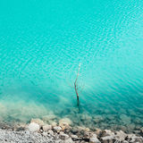 Turquoise water of Lago di Tenno. Trentino, Italy Stock Photography