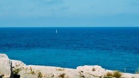 Turquoise water at Mediterranean Costa Dorada, Spain stock image