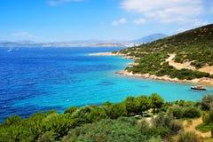 Turquoise water near beach on Turkish resort Stock Photos