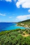 Turquoise water near beach on Turkish resort Stock Image