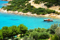 Turquoise water near beach on Turkish resort Stock Photography