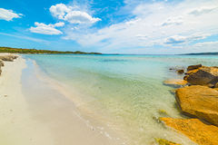 Turquoise water in Puntaldia beach Stock Photos