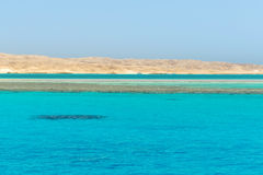 Turquoise water of Red Sea stock photo