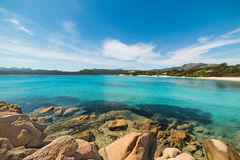 Turquoise water and rocks in Sardinia Stock Photos