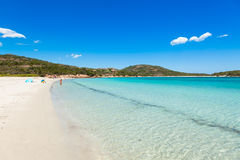 Turquoise water of  Rondinara beach in Corsica Island in France Stock Image