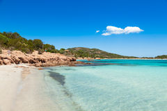 Turquoise water of  Rondinara beach in Corsica Island in France Stock Photography