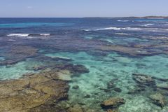Turquoise water at Rottnest Island, Western Australia, Australia royalty free stock photo