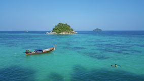 Turquoise water sea island in Thailand stock image
