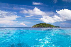 Turquoise water at Similan Islands. Turquoise water of Andaman Sea at Similan islands, Thailand Royalty Free Stock Photos