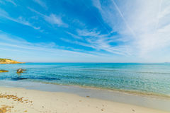 Turquoise water in Simius beach Royalty Free Stock Photo