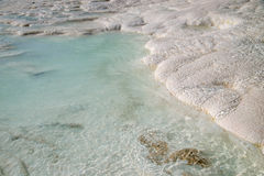 Turquoise water travertine pools, Pamukkale. Stock Photo
