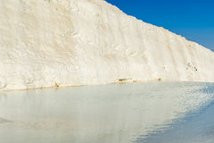 Turquoise water travertine pools, Pamukkale. Royalty Free Stock Photos
