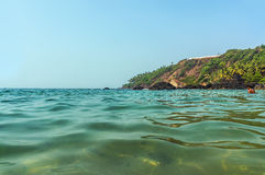 Turquoise water of the warm sea in the state of Goa, India. Stock Images