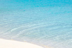 Turquoise water and white sand Royalty Free Stock Photography