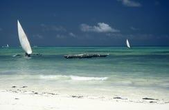 Turquoise Water, Zanzibar Royalty Free Stock Photo