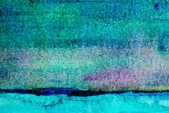 Turquoise Watercolor Background 3 Royalty Free Stock Photos