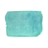 Turquoise watercolor rectangle Stock Photo