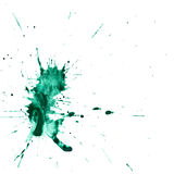 Turquoise watercolor stain on a white background Stock Photography