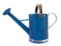 Turquoise Watering Can Stock Photography
