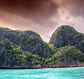 Turquoise waters of beautiful Phi Phi Island - Thailand Stock Photography