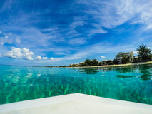 Turquoise waters from a board Stock Photography