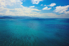 Turquoise waters of the caribbean sea Stock Photos