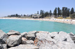 Turquoise Waters at Cottesloe Beach stock images