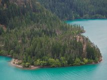 Turquoise Waters of Diablo Lake North Cascades Royalty Free Stock Photos