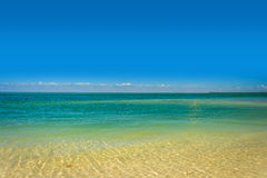 Turquoise waters in the Gulf of Mexico, seen from Islamorada, in Stock Photography