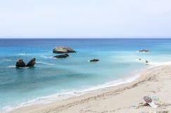 Kathisma Beach Lefkada, Greece Royalty Free Stock Photography