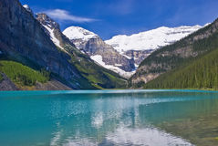 Turquoise waters of lake louise Stock Image