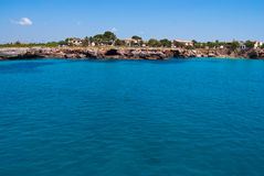 Turquoise waters of Mediterranean Sea, Majorca Royalty Free Stock Photography