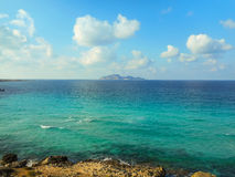 The turquoise waters of the picturesque bay. Favignana Royalty Free Stock Images